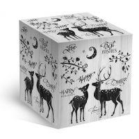 Подарочная коробка под кружку с оленями