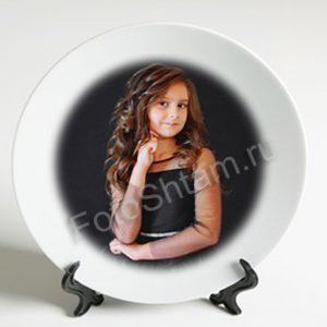 печать фотографий на круглых тарелках пример